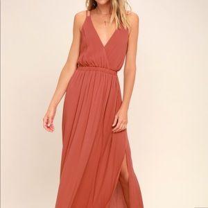 COPY - Lost in Paradise Rusty Rose Maxi Dress Lul…